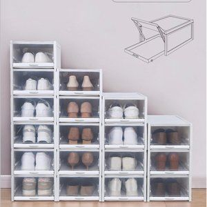 Stackable Push-Pull Shoes Box (3 pieces/Pack)
